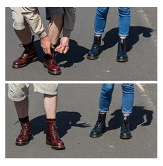 two together (CWhatPhotos) Tags: blue red man look yellow canon that lens foot shoe eos coast photo cool women day foto with view hole image zoom photos pics path 10 walk dr pair iii navy smooth 8 sunny pic images wear have coastal prom photographs together photograph footwear fotos promenade stitching 5d dslr sole doc marten which soles dm blackpool docs contain eyelets bouncing airwair martens dms oxblood lseries 1460 bouncingsoles 1460s cwhatphotos