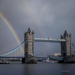 Seeing Double HC9Q9716-1 (rodwey2004) Tags: longexposure london towerbridge landscape rainbow cityscape streetphotography landmark riverthames