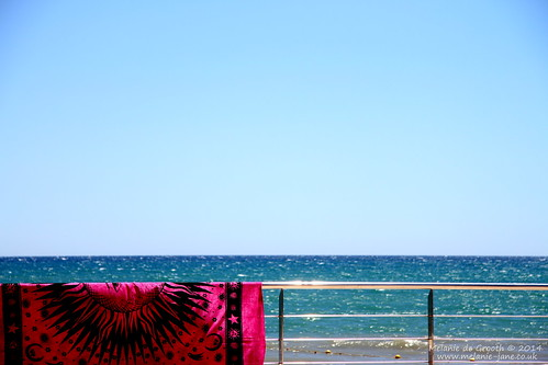 Sparkling Sea & Pink Throw