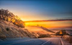 East Bay Sunset (C Rod) Tags: california road travel sunset summer sky brown mountains tree nature beautiful beauty clouds landscape outdoors golden nikon glow calm downhill hills softfocus winding eastbay livermore goldenhour d610 nikond610