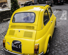 Fiat 500 (Cinquencento) - Roma (nick88msn) Tags: street old city red italy rome roma car yellow photography design italian europa europe italia fiat little sony details lifestyle getty carro vehicle 500 a7 gettyimages lazio fca cinquecento 5photosaday