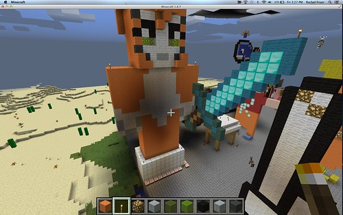 Rachel's Stampy Monument in Minecraft at by Wesley Fryer, on Flickr