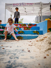 Rosslyn Sand Box (rosslynbid) Tags: park music festival arlington virginia concert sand box jazz va cutting gateway ribbon rosslyn fest sandbox 2015 25thanniversaryoftherosslynjazzfestivalseptember12