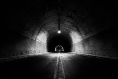There Is Always Light In The End Of The Tunnel (Christophe_A) Tags: road mystery dark blackwhite nikon tripod tunnel greece 20mm christophe d800 arta christopheanagnostopoulos tetrakomo