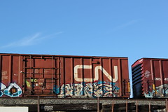 09212015 193 (CONSTRUCTIVE DESTRUCTION) Tags: train bench graffiti streak tag picture boxcar graff piece moniker benched