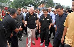 Majlis pelancaran Liga Bola Sepak Rakyat 2015. (Najib Razak) Tags: bola sepak liga 2015 rakyat