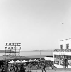 Seattle - 2014 (andrewjsan) Tags: seattle rolleiflex kodak trix kodaktrix pikeplacemarket publicmarket rolleiflex28e