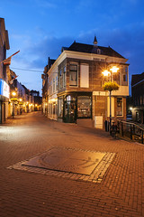 Schiedam, Hoogstraat & Lange Achterweg (Jan Sluijter) Tags: blue holland nederland bluehour schiedam hoogstraat achterweg visitholland