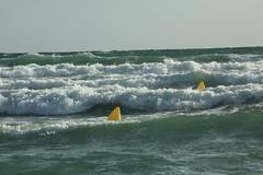 Waves (Steve Dawson.) Tags: sea beach canon eos is spain sand rocks waves september espana usm rough ef28135mm 16th menorca minorca redflag sonbou balearicislands 2015 f3556 50d ef28135mmf3556isusm canoneos50d