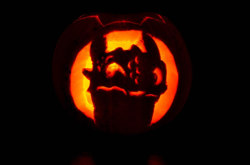 how to train your dragon pumpkin stencil