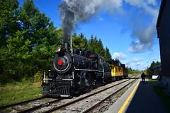 Coming out of the siding. (Drew Goff-) Tags: train diesel cab smoke engine rail railway steam rails locomotive 1923 alco mlw