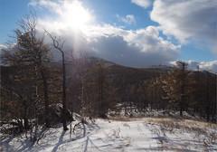 (Kirill & K) Tags: blue autumn trees winter sky sun snow clouds forest birch rays larch          bashkiria   sunduk        southurals