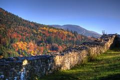 Herbstlich (Stephi 2006) Tags: frankreich alsace hdr mauer burgruine kruth