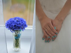 (the_insomnia) Tags: morning blue wedding summer white love bride hands pastel wed ring bouquet belarus minsk tenderness cornflowers