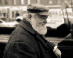Ben Affleck Movie Extra (stumblegeek) Tags: street old 1920s portrait people white man black film set vintage movie beard person actors ben movies actor extra affleck