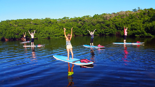 11_30_15 Paddleboard Yoga in Lido Mangroves FL 12