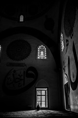 praying (MrtBzts) Tags: light window nikon praying turkiye mosque edirne blackanswhite d7200