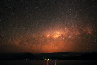 A setting Milky Way