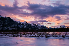 Sweet Light (Quincey Deters) Tags: morning winter cloud mountain snow canada ice nature horizontal sunrise river landscape outdoor january alberta northamerica allrightsreserved jaspernationalpark 2015 canadianrockymountains colourimage snaringriver quinceydeters