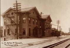 Railroad, C M & St P Depot