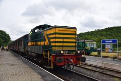NMBS 7304,554.11 Treignes CFV3V (eddespan (Edwin)) Tags: belgie loc trein nmbs spoorwegmuseum rangeerloc dieselloc museumtrein cfv3v chemindeferavapeurdestroisvalees