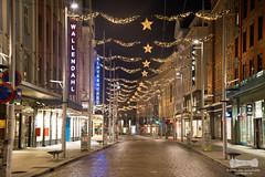 Christmas decorated Bergen (Aviation & Maritime) Tags: christmas norway christmaslights bergen