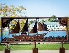 Metal Sails (acidicDR) Tags: colour daylight lakefront nikon metalsculpture