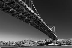 Bridge Over the Maumee (K.M. Smith Photography) Tags: outdoors blackandwhite bridge kmsmith toledo lucascounty ohio canon