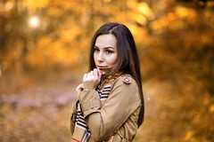 Autumn is here (Dudushka) Tags: girl autumn fall amazing beautiful leaves nature winter scarf love canon work adorable autumnleaves tree ilovefall  cold leaf bulgaria sofia yellow instagram