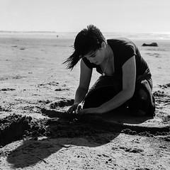 Sand Work (Barry McBeth) Tags: ilford pan f 50 rolleiflex mxevs scheiderkeruznach xenar f35 75mm kodak xtol stock random portrait