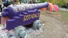 Old Jeremiah - End Polio Now - Rotaract (BladDad) Tags: oldjeremiah universityofguelph branionplaza cannon polio rotaract