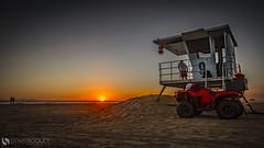 Guarding the Sunset (dougsooley) Tags: sunset sunsets sunsetporn beach ocean oceansunset huntingtonbeach huntingtonbeachpier dougsooley canon canon1dx canonlenses canonlens california cali lifeguard lifeguardtower