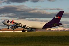 N733FD FedEx Express A300B4-605RF at KCLE (GeorgeM757) Tags: n733fd fedexexpress a300b4605rf aircraft airplane alltypesoftransport aviation airport airfreight sunset landing kcle georgem757