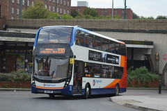 Stagecoach AD Enviro 400MMC 10605 SN16OWF - Stockport (dwb transport photos) Tags: stagecoach alexander dennis enviro bus decker 400mmc 10605 sn16owf stockport