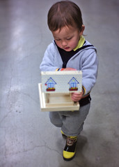 Handmade birdhouse (Scott SM) Tags: hammer bird house feeder lowes store two year old toddler 2 build