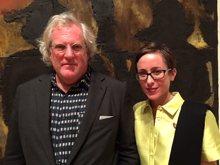 Acclaimed artist Donald Sultan with Lowe Museum director Jill Deupi at the opening of Sultan's exhibition