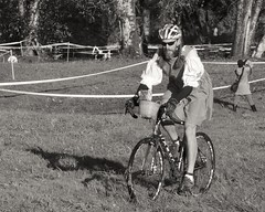 DSCF4067 BW (Katherine ZM) Tags: pumpkincross cyclocross race mapleridge bc canada bicycle dorothy halloween