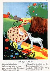 Mary had a little lamb (katinthecupboard) Tags: vintagechildrensillustrations nurseryrhymes mothergoose charlottestone