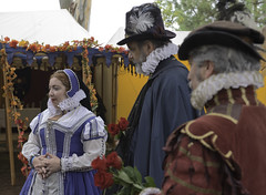 Attending the Lady with Roses (dcnelson1898) Tags: folsom california outdoors renaissancefair event costume joust tudor medieval