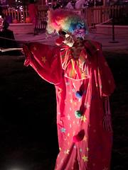 Scary clown, Howl-o-Ween at Reid Park Zoo (Distraction Limited) Tags: howloween halloween reidparkzoo tucson arizona howloween2016 clowns skeletons