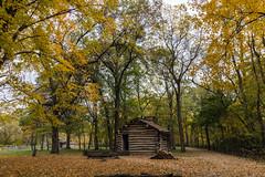 School House (Larry Senalik) Tags: 2016 canon dslr illinois lincoln new salem state t3i autumn building cabin fall historic log site