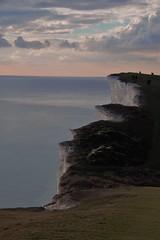 Edge of the world (ian poole) Tags: beachy head sussex england sea coast chalk cliffs blue sky sunset edge white