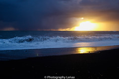 _MG_3169 (photography.lenaa) Tags: blacksandbeach beach stone black water sea ocean blue sun iceland