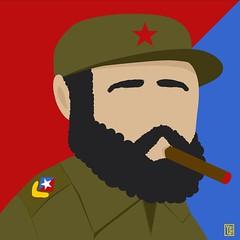 Fidel Castro tributo (Yelena Maria Drinkie) Tags: instagramapp square squareformat iphoneography uploaded:by=instagram fidel fidelcastro lidermaximo rip tributo ritratto portrait vector digitalportrait illustrazione digitalillustration