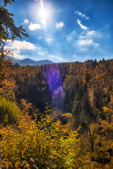 Autumn in Rakov Škocjan (oliver.nispel) Tags: outdoor slovenia clouds landscape nature place sky tree woods cerknica si rakov škocjan skocjan forest autumn colors color colorful travel nationalpark