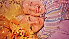 Sweet October with mommy's love (Alessa Haj Hassan) Tags: portrait belarus october fall love mom son beautiful autumn yellow leaves