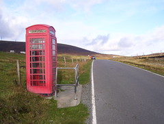 Red Phonebox near South Collafirth 2