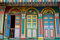 Local Color (Mondmann) Tags: building buildingdetail architecture architecturaldetail colors colorful multicolored littleindia singapore southeastasia travel mondmann nikond7100 windows shutters