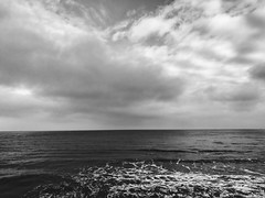 (electricgecko) Tags: rgen iphone mobile sugimoto sky sea clouds balticsea monochrome