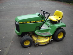 Lawn tractor with trailer (Glenn3095) Tags: garden tractor mower equipment